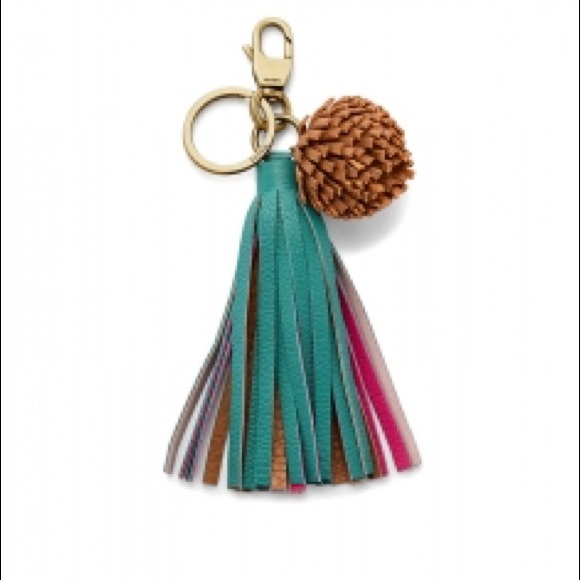 Fossil Accessories - NWT Fossil Pom leather key chain fob